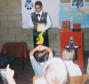 Nick Twist magician and balloon artist as a child