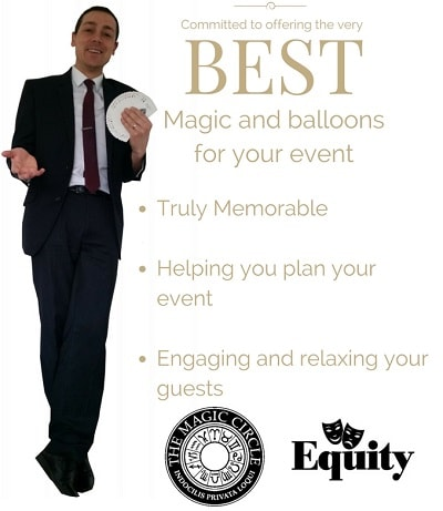 Photo stating Nick Twist is truly memorable, helping you plan your event and engaging and relaxing for your guests