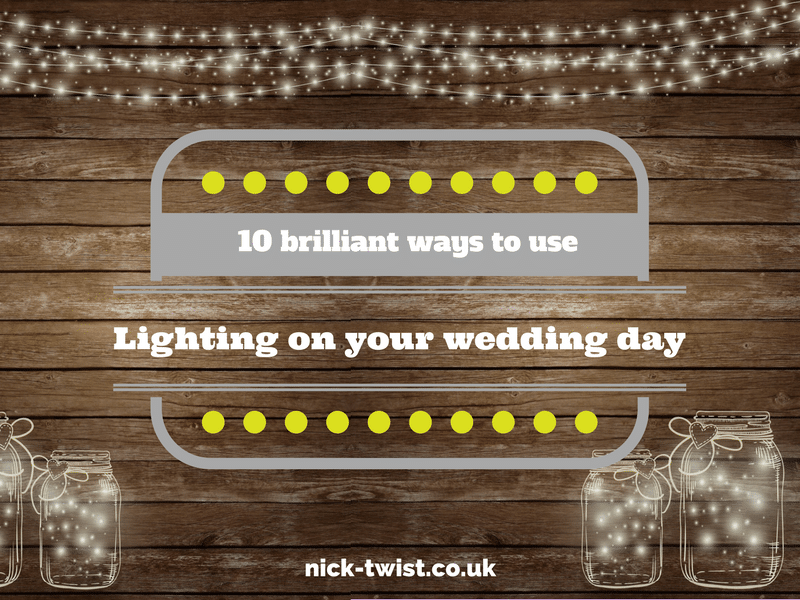 using lighting effects at your wedding by Nick Twist