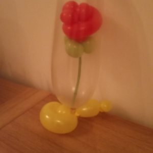 Rose in a jar balloon