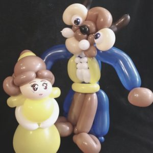 beauty and the beast balloon model