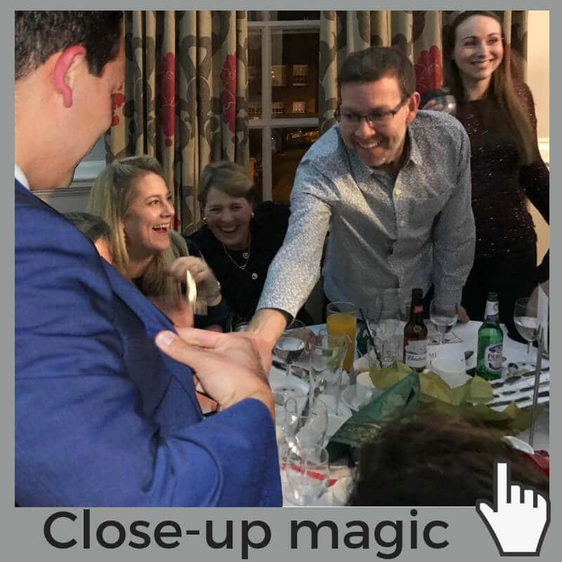 Magician close up table Norwich