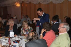 Norfolk magician Nick Twist entertains a table of guests