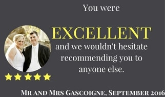 Testimonial - You were Excellent. 5 stars