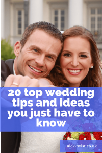 20 top wedding tips and ideas title image