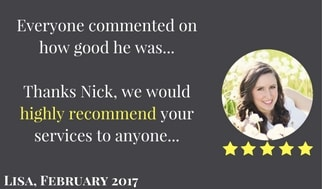 Testimonial - Hughly recommend your services to anyone. 5 Star