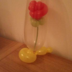 Rose in a jar balloon