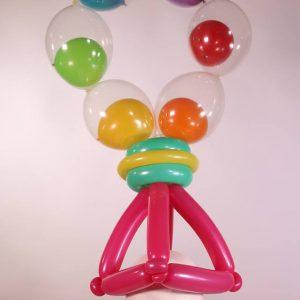 Rainbow bubble hat