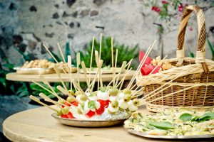 food canapes at party