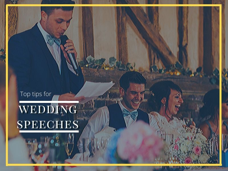 wedding speeches blog headline image