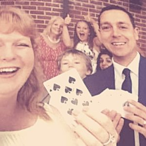 Wedding at Barnham Broom, Norwich, Card magic family fun