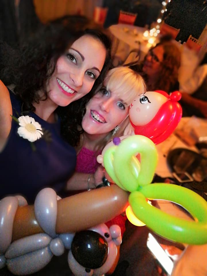 Balloon modelling for adults, wedding fun