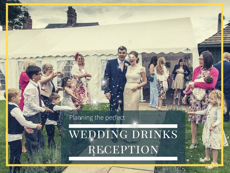 planning wedding drinks reception headline image