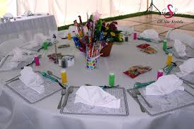 wedding table set up for children
