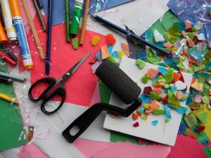 Example art materials for childrens art corner