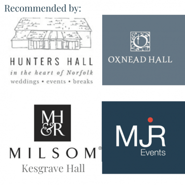 Recommended by hunters hall, oxnead hall, kesgrave hall