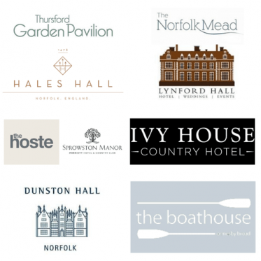 Logos of wedding venues in norfolk