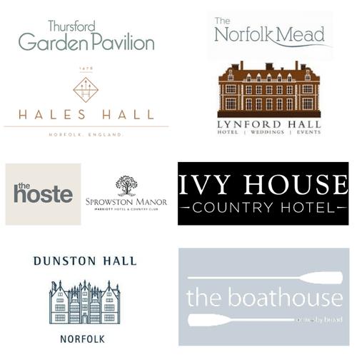 Logos of wedding venues in norfolk