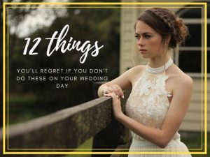 blog header things regret wedding