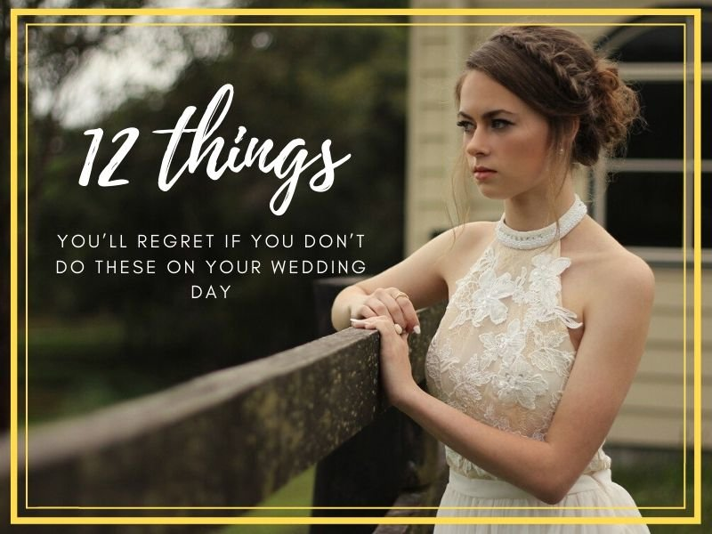 blog header things regret wedding