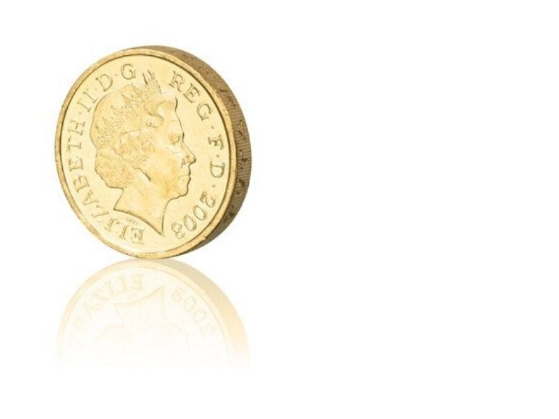 Pound coin for party game