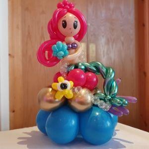 girls birthday balloon gift mermaid