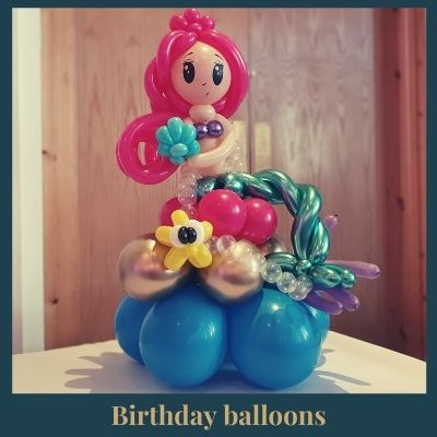 Birthday balloon mermaid