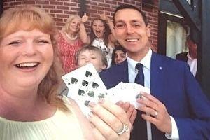 Family Norfolk magician having fun