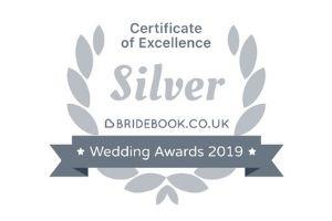 Bridebook wedding awards winner 2019 badge