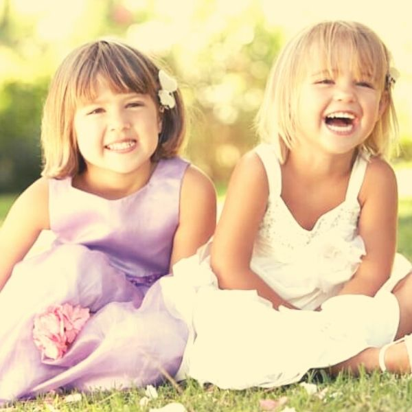 children laughing party
